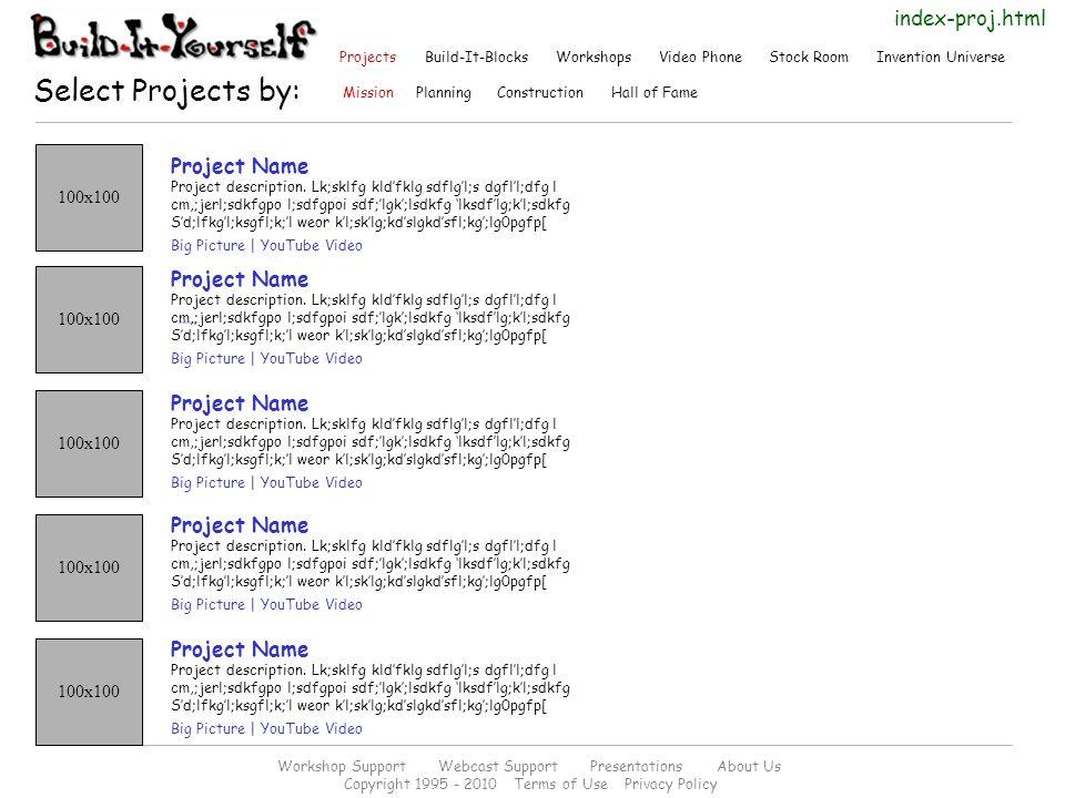 100x100 Project Name Project description.