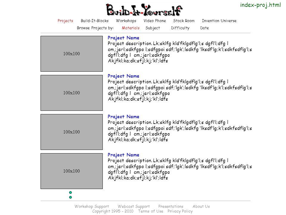 Project Name Project description.