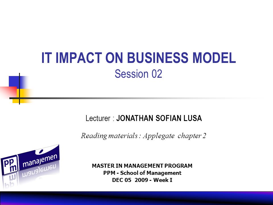 Chapter Outline The Search for Opportunity Analyzing IT Impact 3333 3333 GPA Case Study 2222 2222 1111 1111