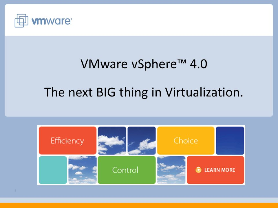 VMware View Composer View Composer combines two virtual disks Highly Managed OS Disk Reduce provisioning time enabling creation on-the-fly Roll out updates and patches by creating a new snapshot User Data Disk Persistent disk to store user data and settings OS and user disks can be on different storage View + User Data Disks Storage 1Storage 2