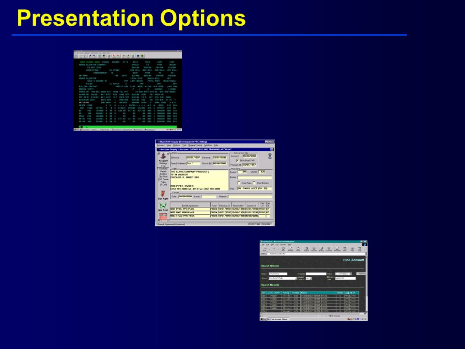 Presentation Options