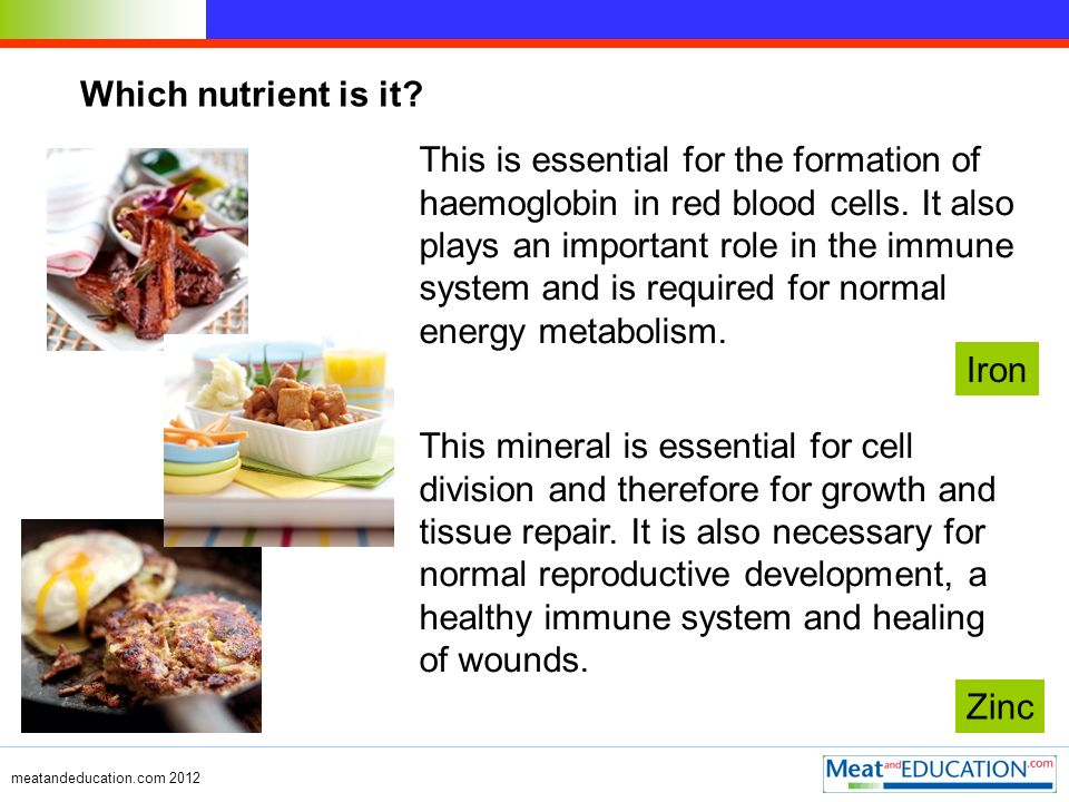 Which nutrient is it? This mineral is essential for cell division and therefore for growth and tissue repair. It is also necessary for normal reproduc