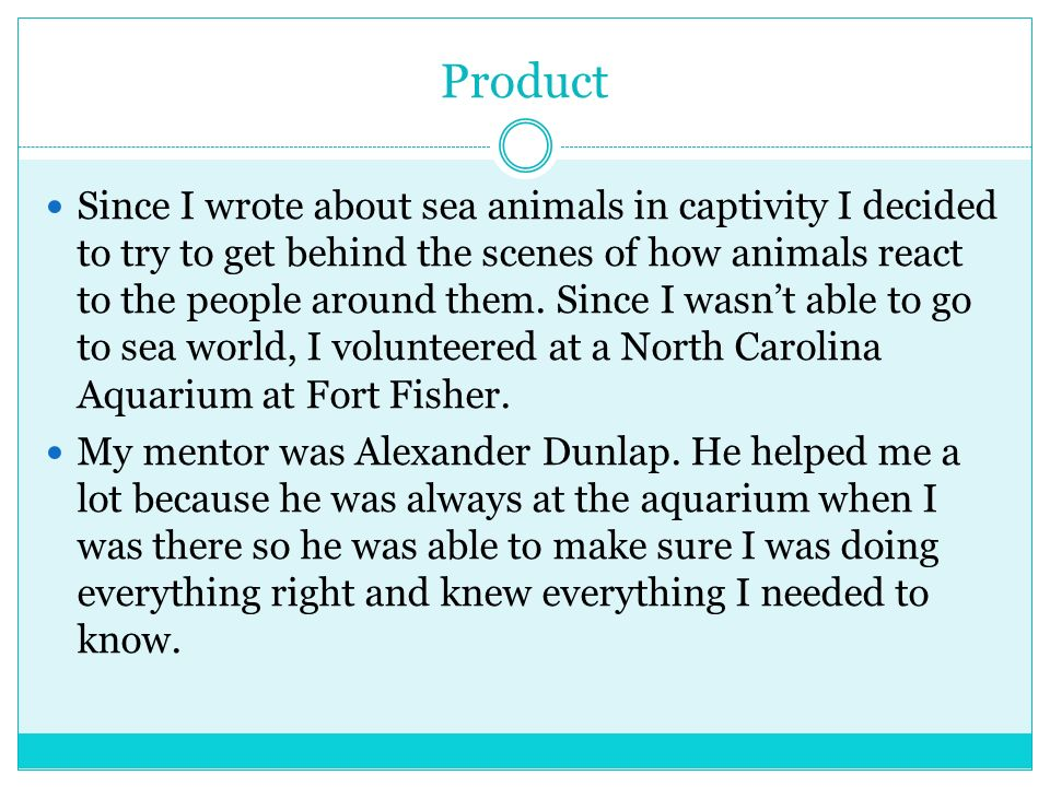 Product Since I wrote about sea animals in captivity I decided to try to get behind the scenes of how animals react to the people around them. Since I