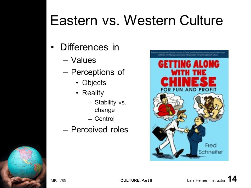 MKT 769 CULTURE, Part II Lars Perner, Instructor 14 Eastern vs.