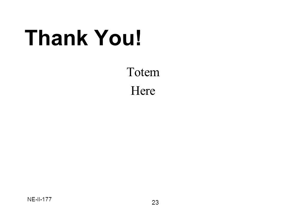 NE-II-177 Thank You! 23 Totem Here