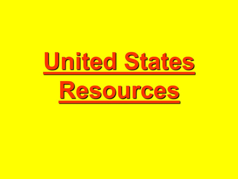 United States Resources