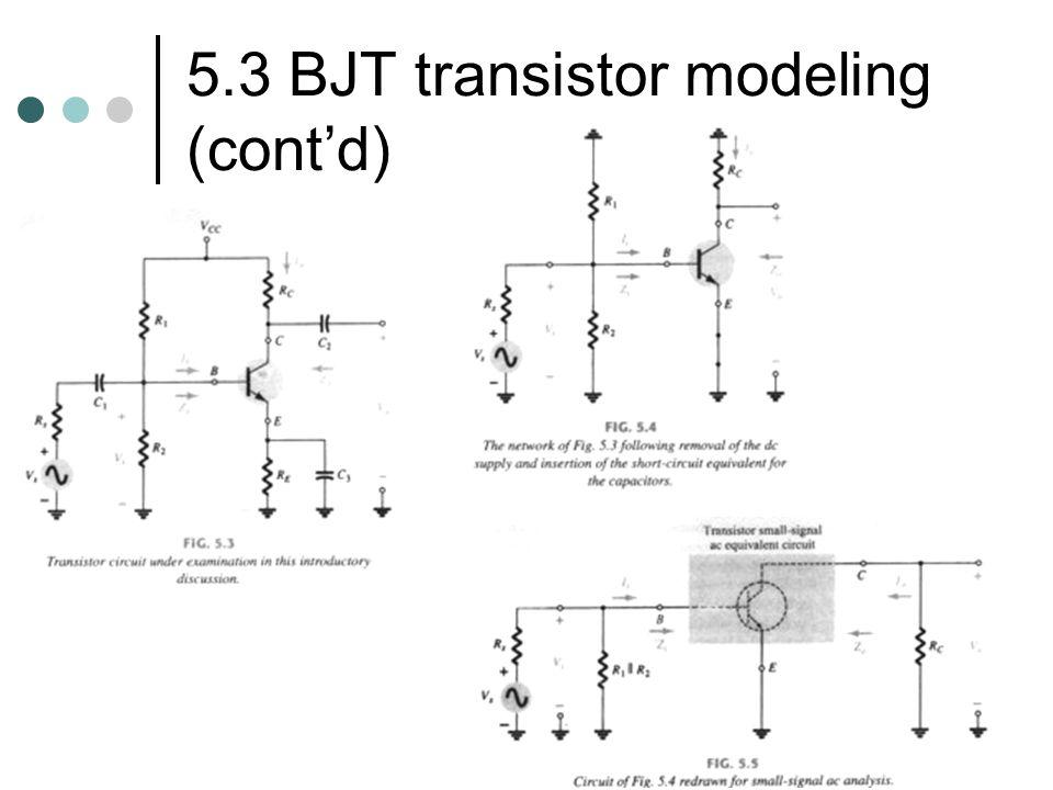5.3 BJT transistor modeling (contd)