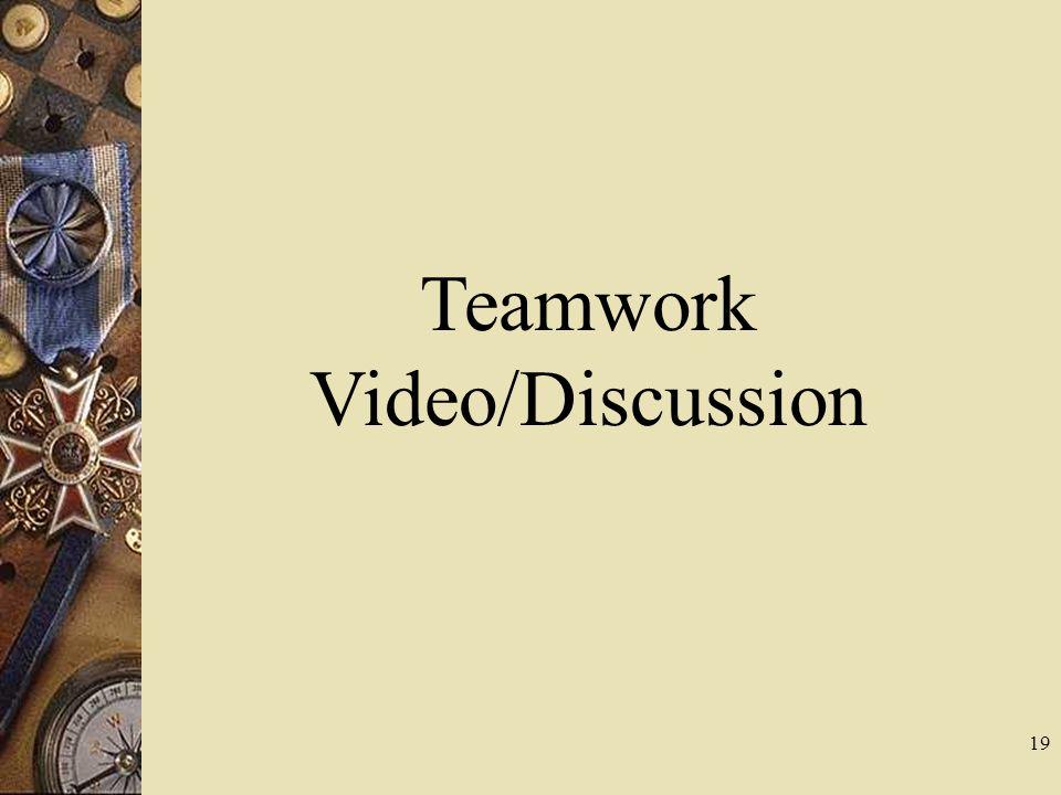 19 Teamwork Video/Discussion