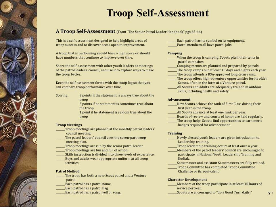 57 Troop Self-Assessment