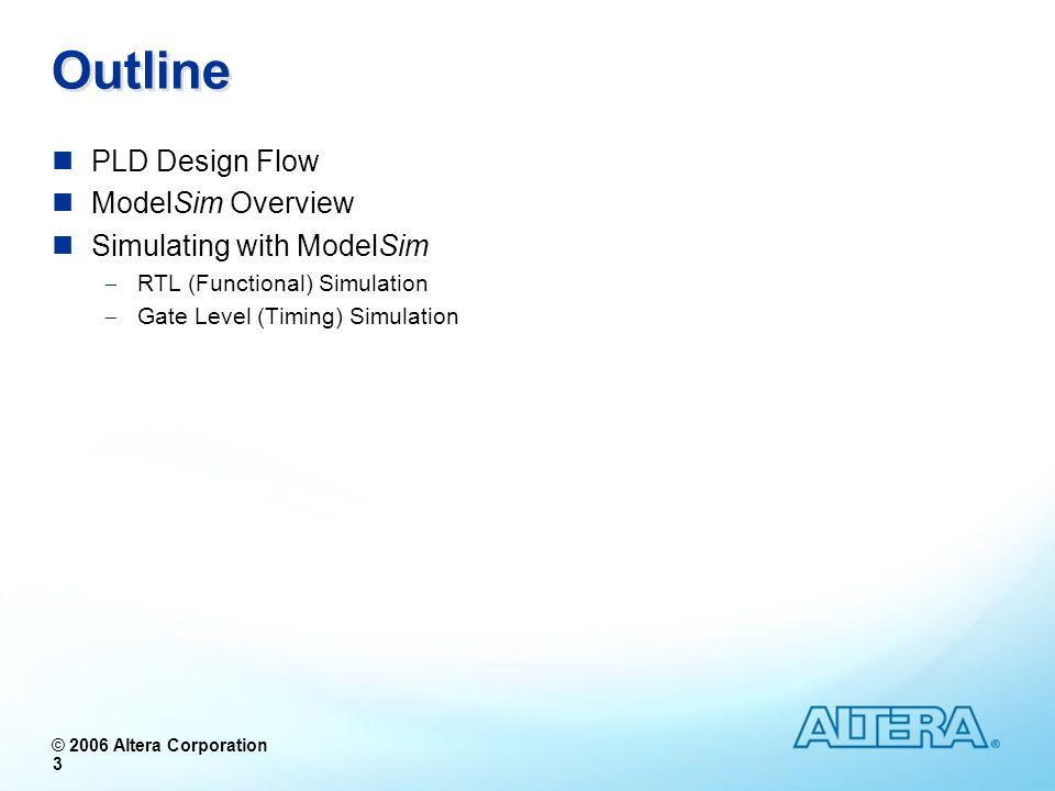 © 2005 Altera Corporation © 2006 Altera Corporation Typical PLD Design Flow
