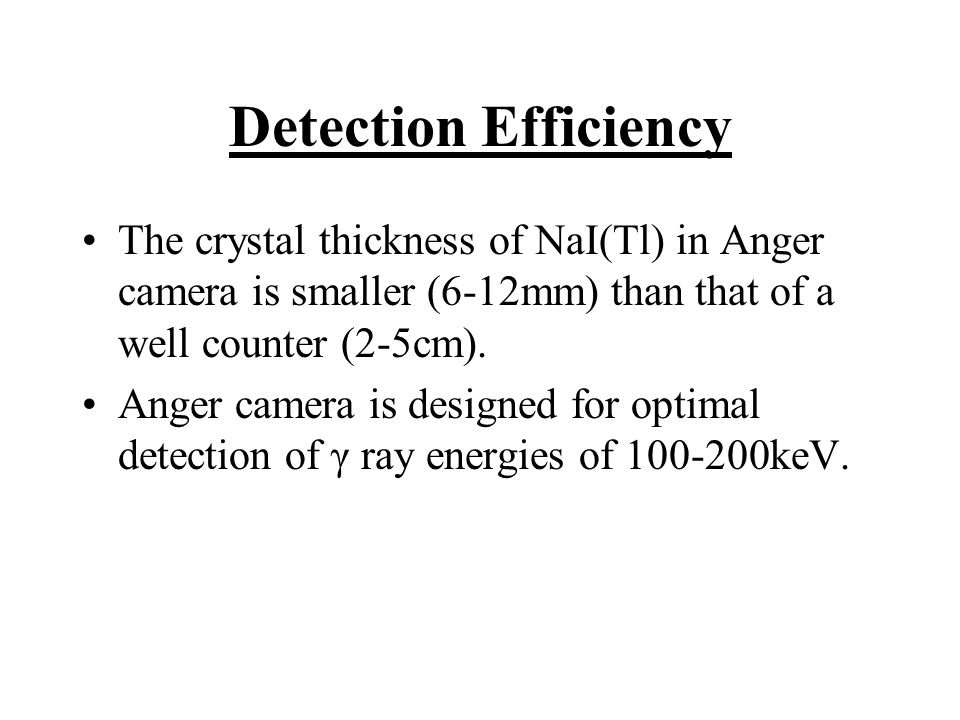 Collimator Efficiency Collimator efficiency for a source in air is independent of source-to- collimator distance b.