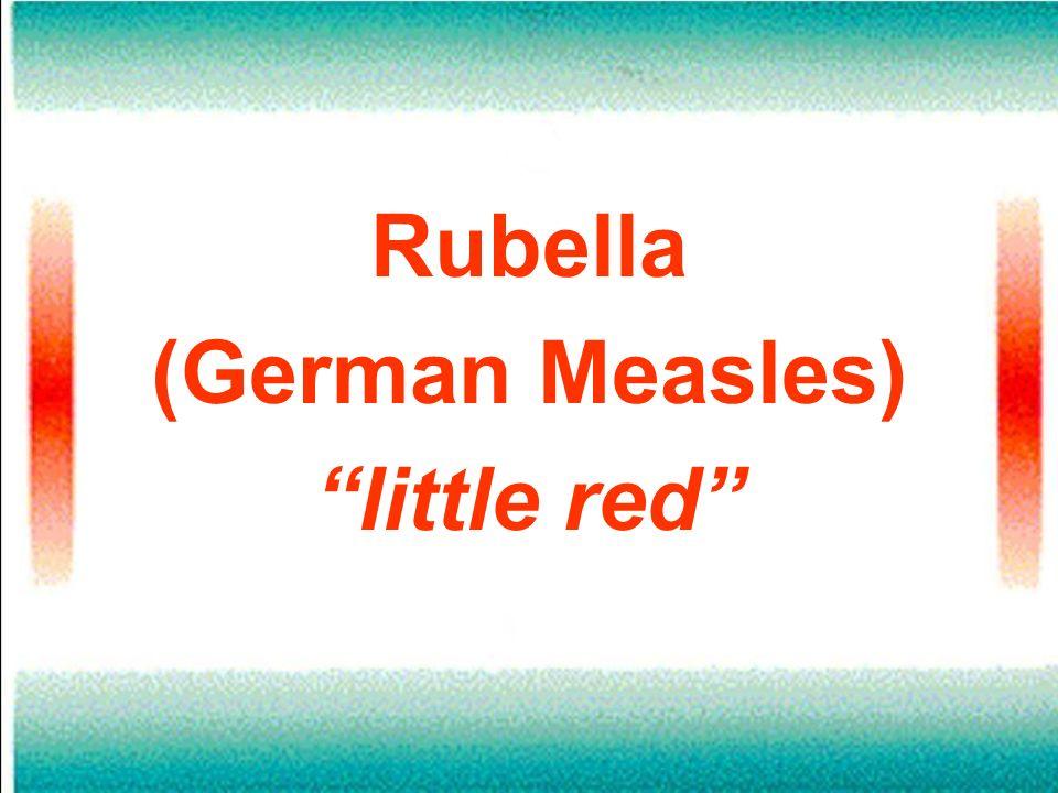 Rubella (German Measles) little red