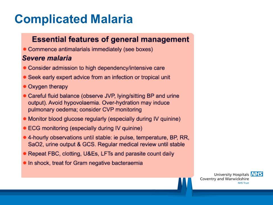 Complicated Malaria