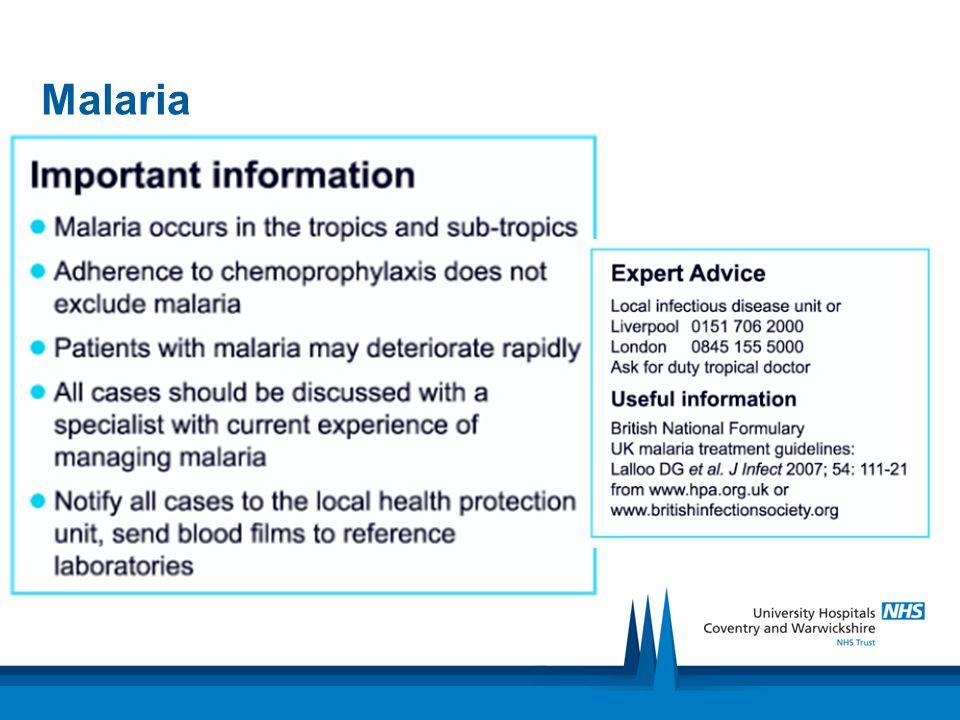 Treatment Diagnosis: Fresh water exposure 4-8 weeks previously Fever-Urticarial rash-Eosinophilia Treatment empiric!!!.