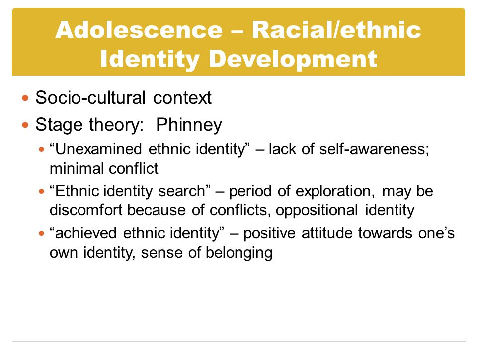 Adolescence – Changing Significance of Attachment Desire for independence, peer group, identity, interest in sexuality Parents and other authority figures are less significant Parental role shifts Developmental differences in life stage between parents and adolescents Separation-individuation process requires parents to set goals for independence and autonomy; parents can provide a secure base; adolescents move away from being cared for to taking on caretaking roles themselves