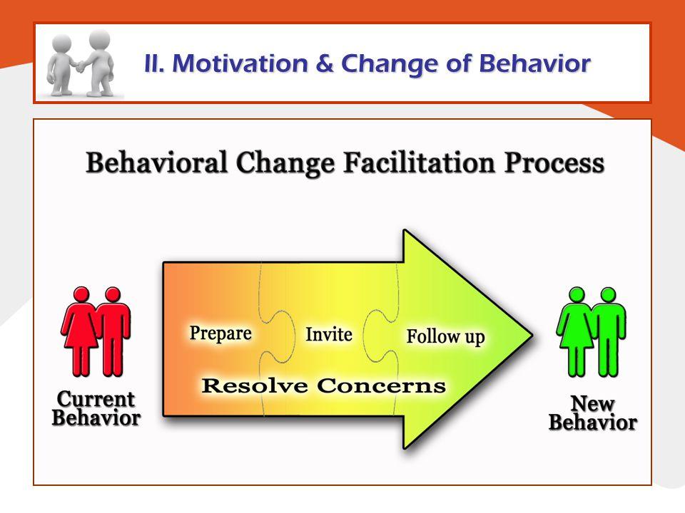 ll. Motivation & Change of Behavior
