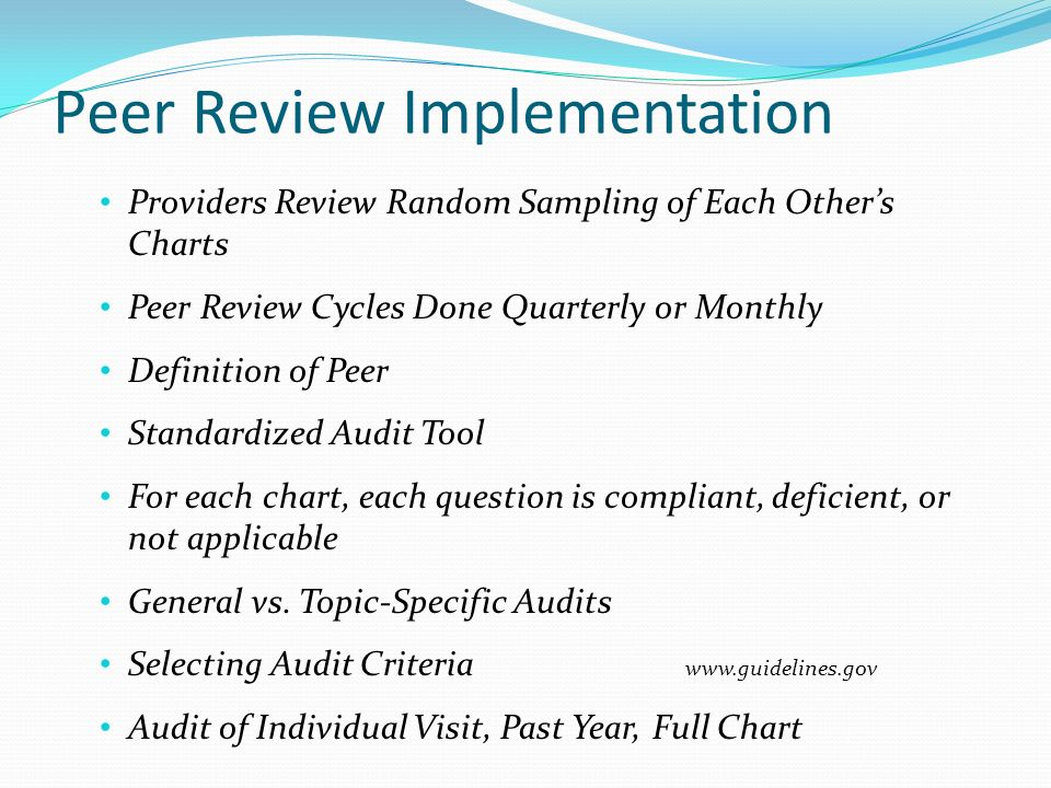 How to Use Your Data Analyze Individual Trends Measure Individual Provider Performance Over Time Compare Individual Results to Aggregate Data Analyze Clinical Practice Trends Are We Meeting Basic Quality Goals.