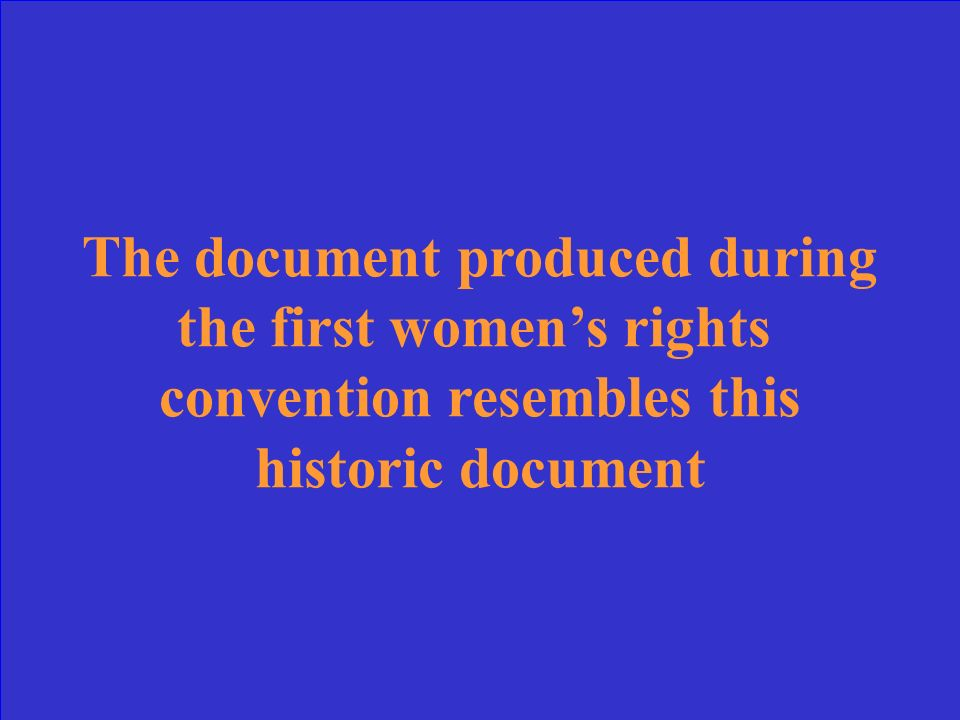 What is the Declaration of Sentiments