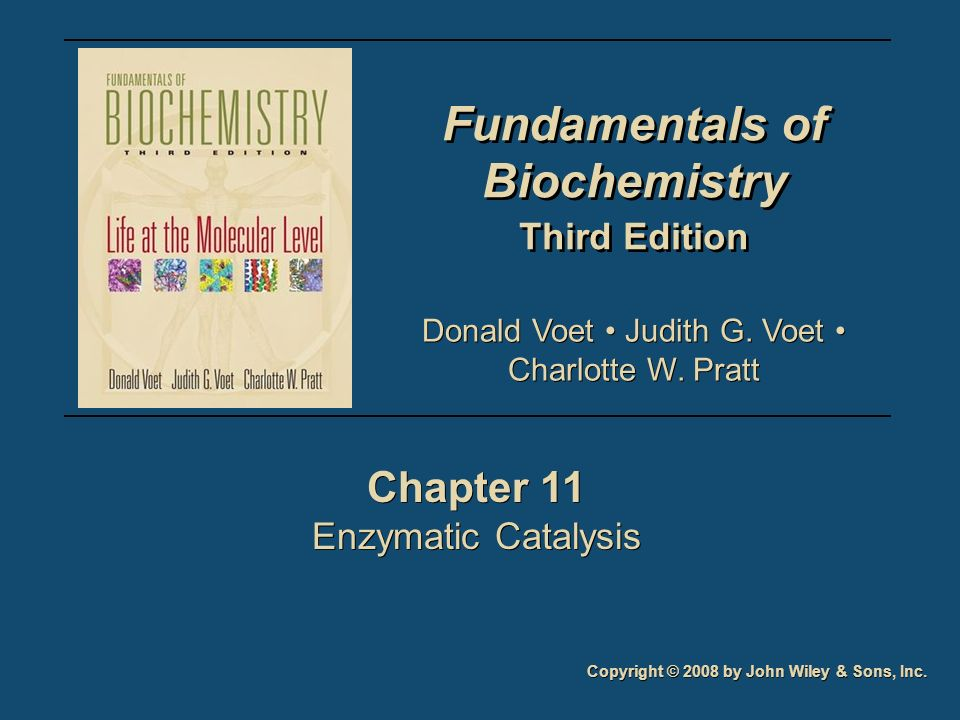 Fundamentals of Biochemistry Third Edition Fundamentals of Biochemistry Third Edition Chapter 11 Enzymatic Catalysis Chapter 11 Enzymatic Catalysis Co