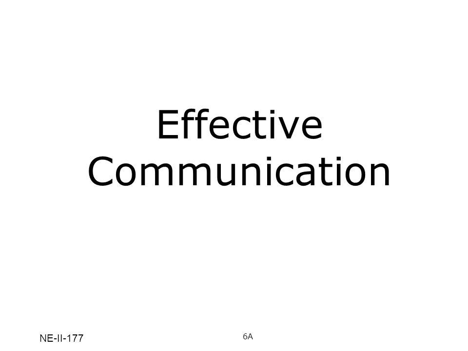 NE-II-177 Effective Communication 6A