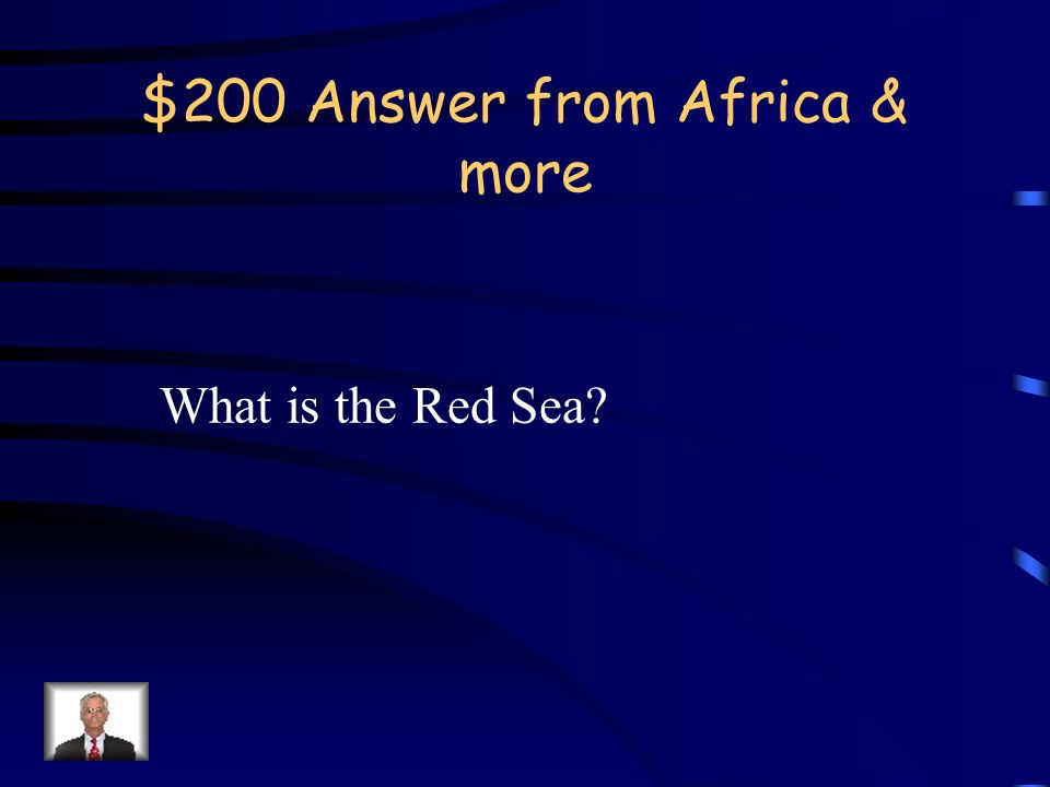 $200 Question from Africa & more The Suez Canal allows access between the Mediterranean Sea and what other body of water?
