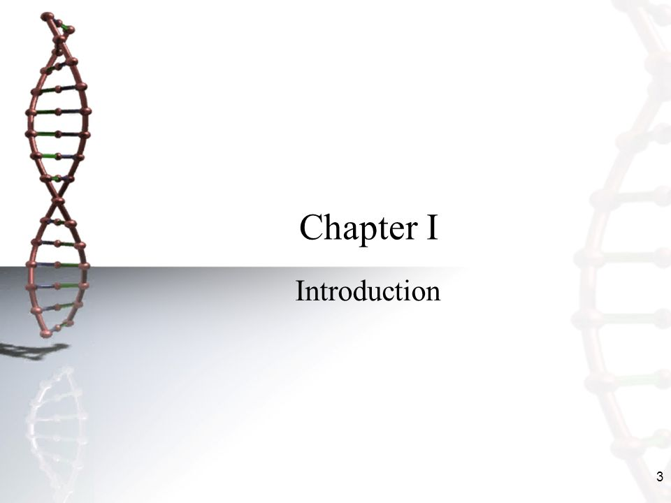 3 Chapter I Introduction