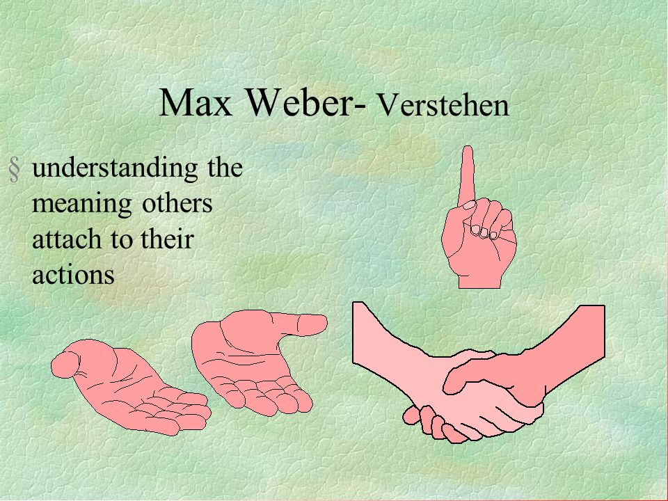 Max Weber- Interested in groups within society, not just society as a whole