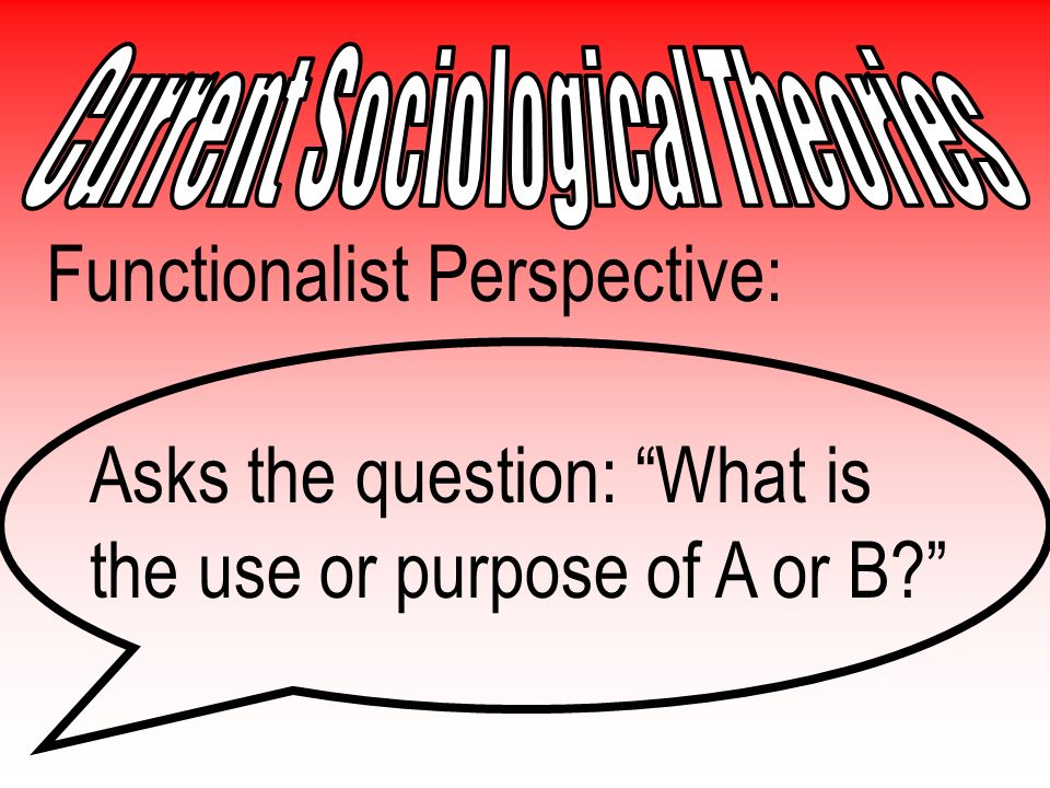 … And now for the Sociological Theoretical Perspectives...