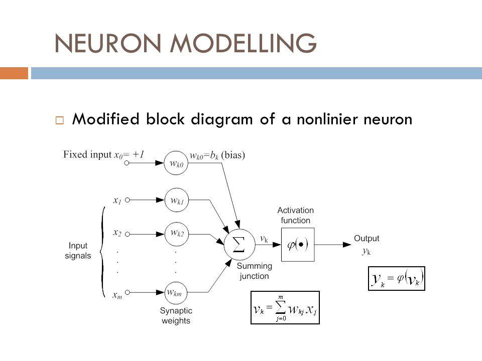 NEURON MODELLING Modified block diagram of a nonlinier neuron