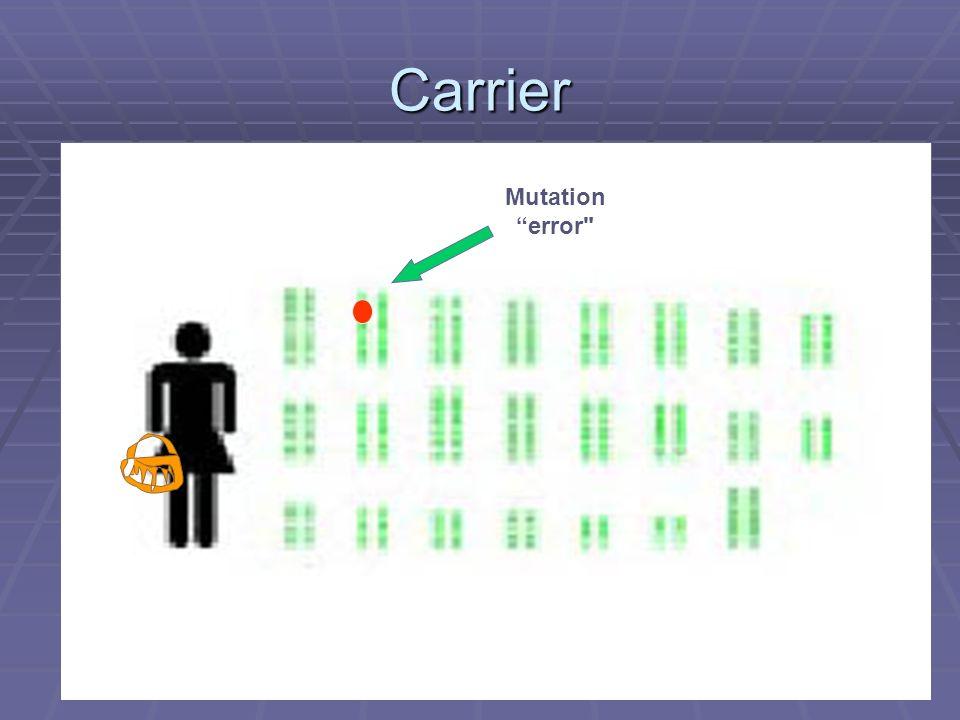 Carrier Mutation error