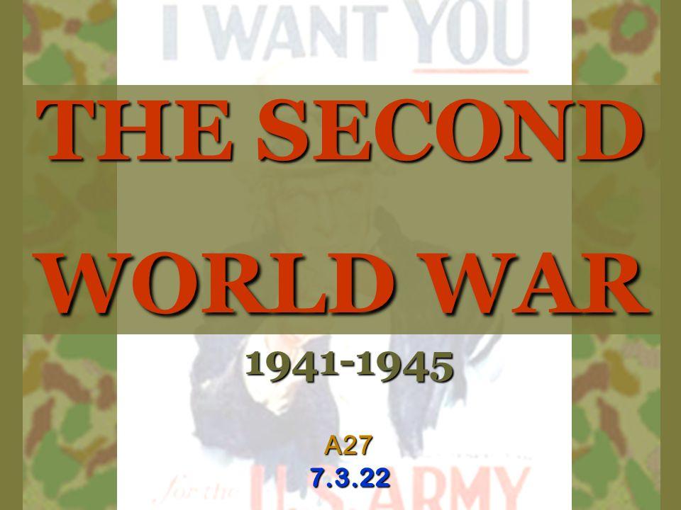 THE SECOND WORLD WAR 1941-1945A277.3.22