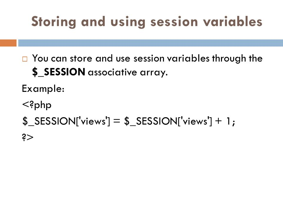 Destroying a session Sessions are destroyed through the use of the session_destroy() function.