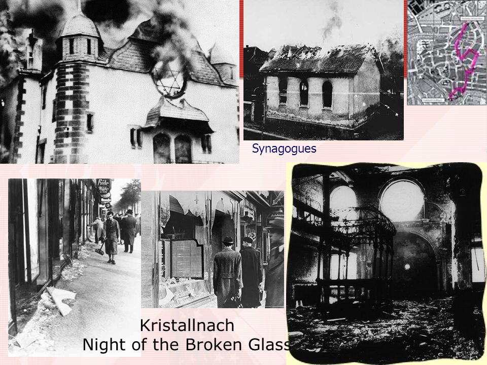 Synagogues Kristallnach Night of the Broken Glass