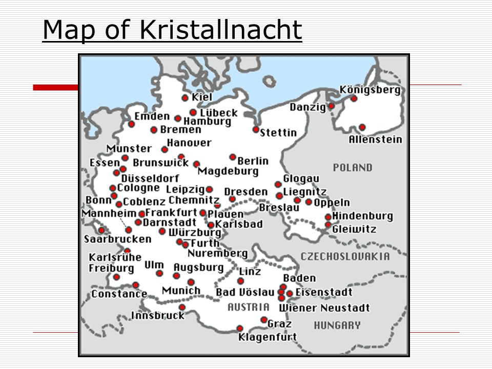 Map of Kristallnacht