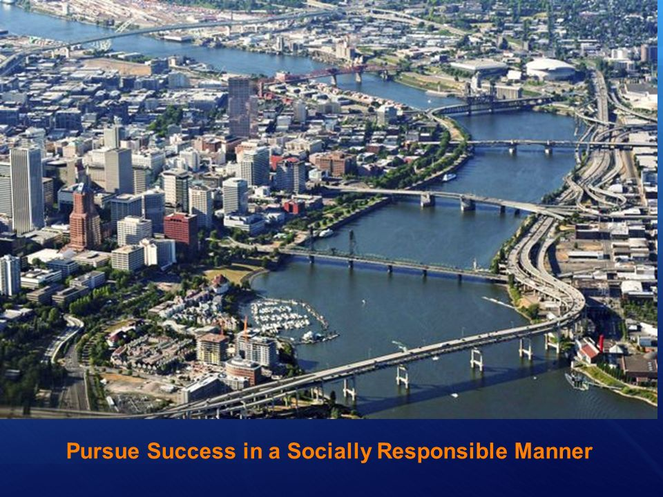 Pursue Success in a Socially Responsible Manner
