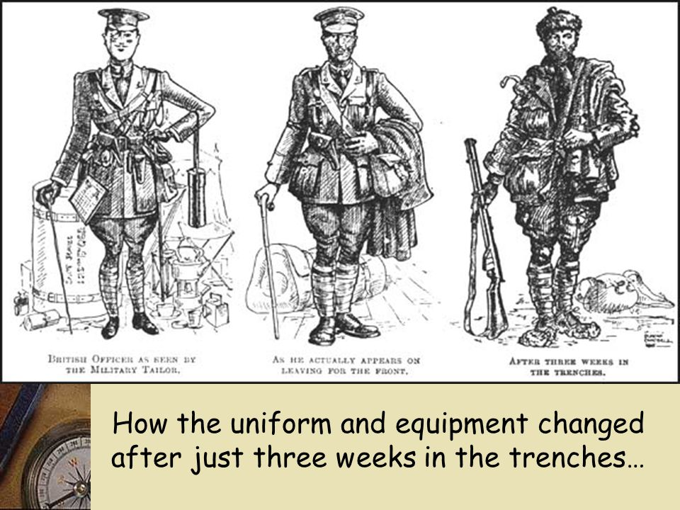 Soldiers were expected to carry all of their equipment with them at all times. They were supposed to keep it clean and in good condition – they were B