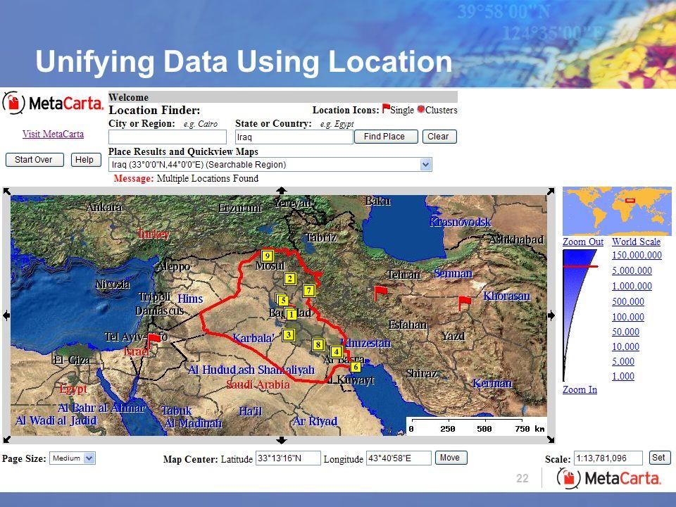 22 Unifying Data Using Location