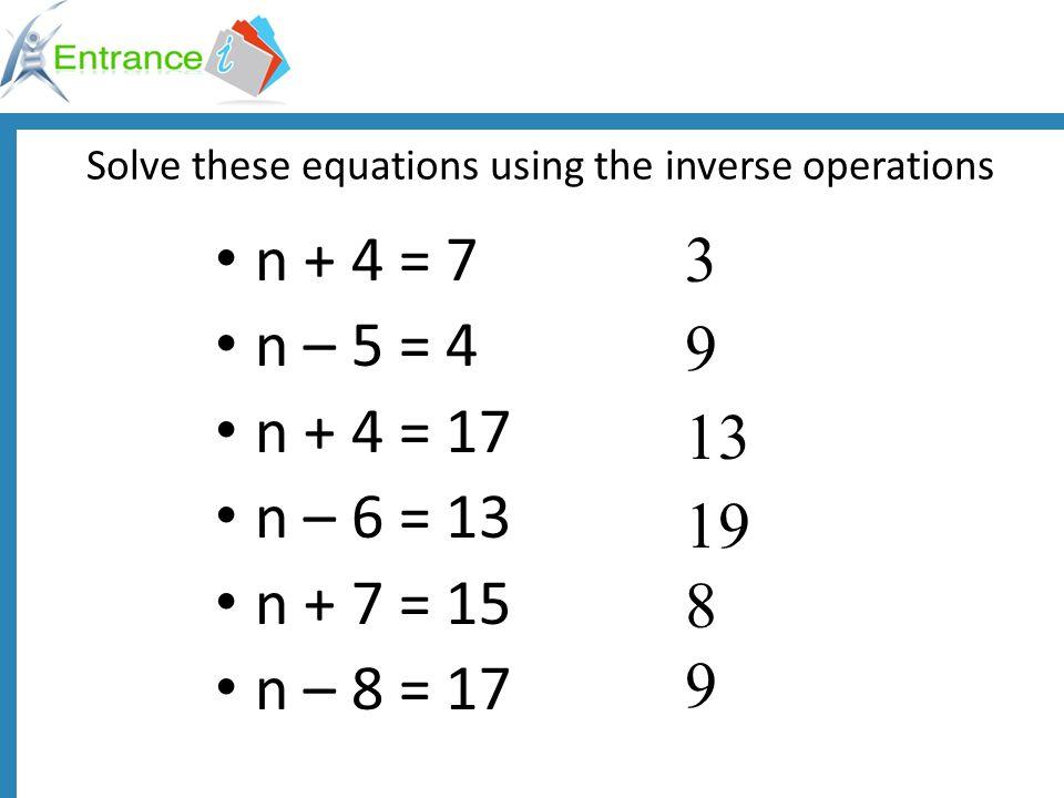 Commutative Property 5 + 4 = 94 + 5 = 9 a + b = cb + a = c 6 + 3 = 93 + 6 = 9 x+ y = zy + x = z 3 + 4 + 1 = 81 + 3 + 4 = 8