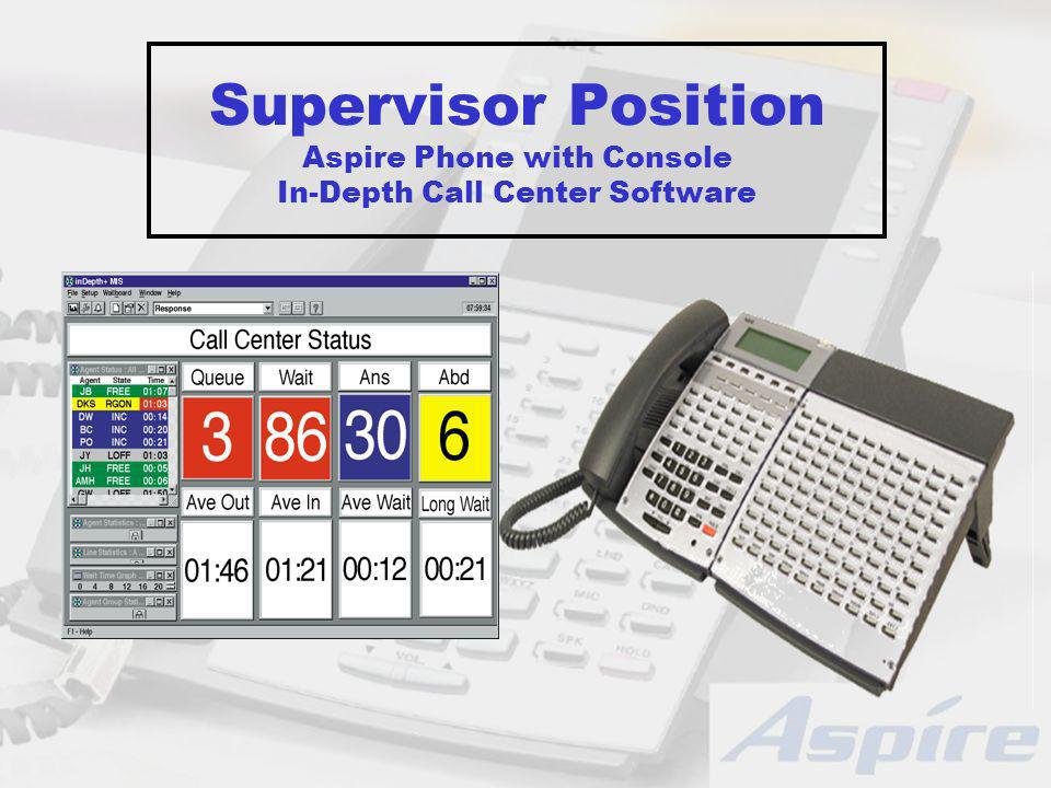 Supervisor Position Aspire Phone with Console In-Depth Call Center Software