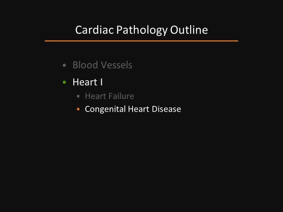 Blood Vessels Heart I Heart Failure Congenital Heart Disease Cardiac Pathology Outline
