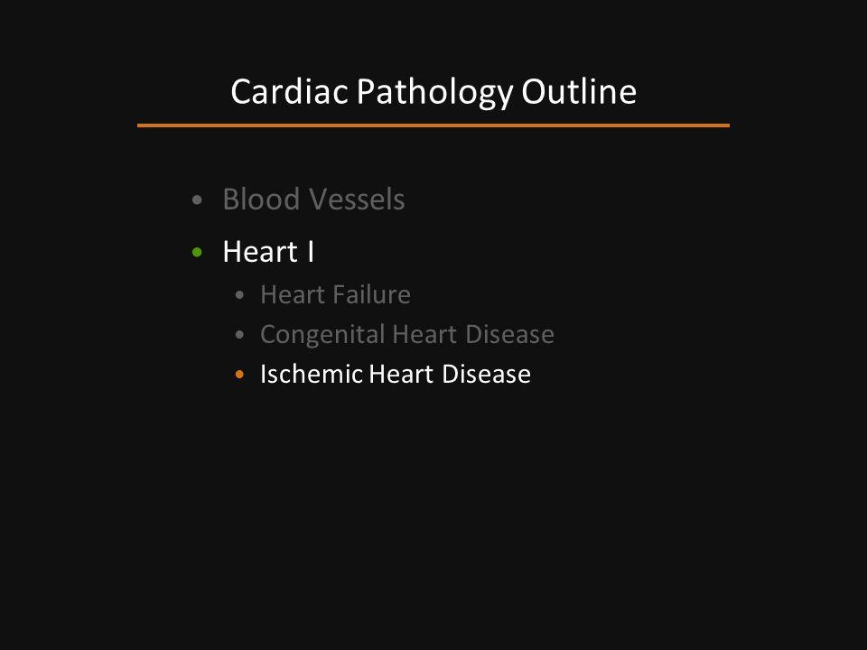 Blood Vessels Heart I Heart Failure Congenital Heart Disease Ischemic Heart Disease Cardiac Pathology Outline