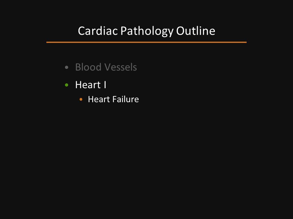 Blood Vessels Heart I Heart Failure Cardiac Pathology Outline