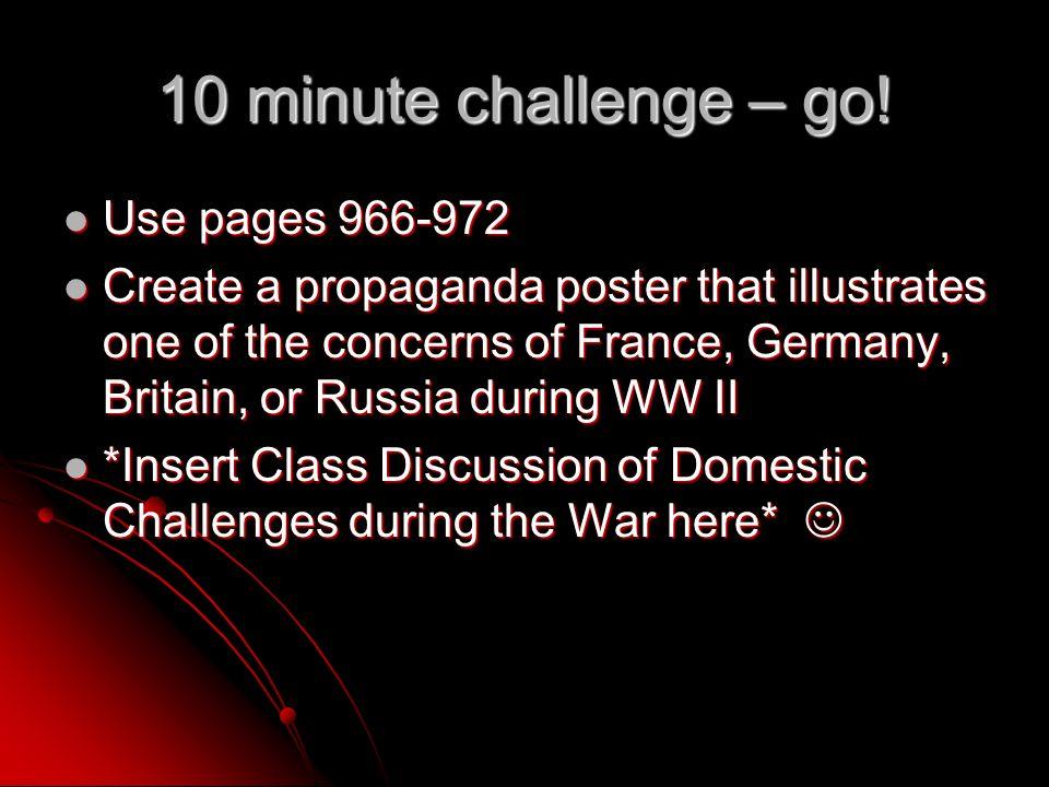10 minute challenge – go.