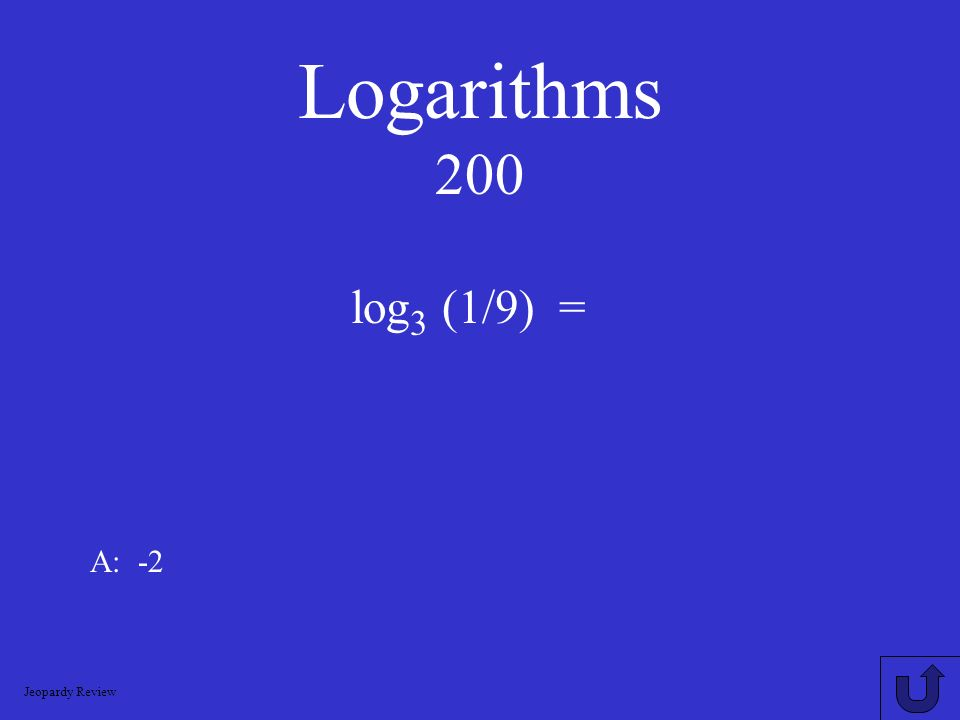 Logarithms Exponential Growth and Decay Exponential FunctionsSolvingLogarithmicEquationsSolvingExponentialEquations 200 400 600 800 1000