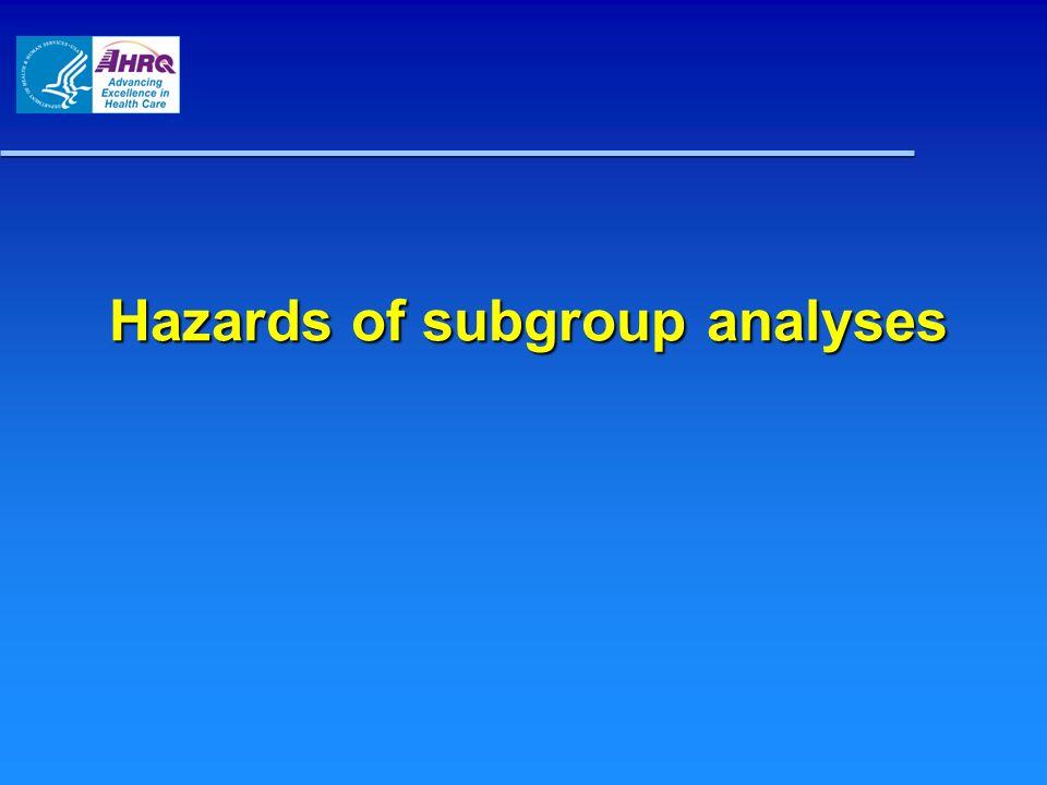 Hazards of subgroup analyses