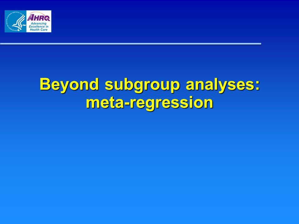 Beyond subgroup analyses: meta-regression