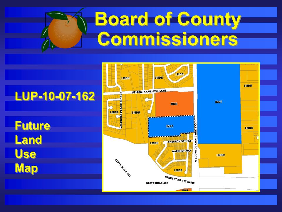 Board of County Commissioners LUP-10-07-162 Future Land Use Map LUP-10-07-162 Future Land Use Map