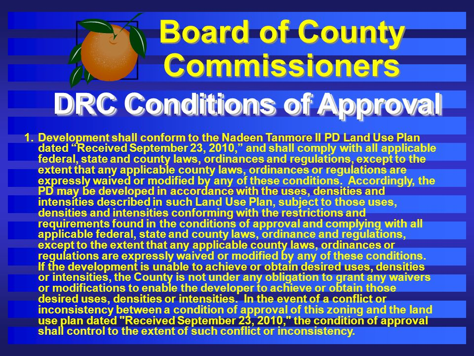 Board of County Commissioners DRC Conditions of Approval 1.