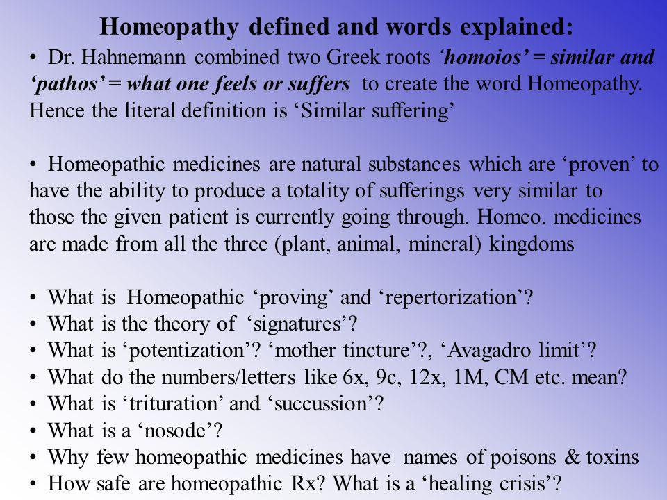 Myth 5: Homeopathy is only useful in chronic cases Fact: Very often it is - where everything else has failed.