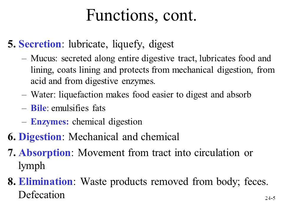 24-6 Digestive Tract Histology: The Tunics Mucosa.